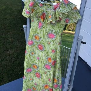 Handmade vintage floral dress size small maxi